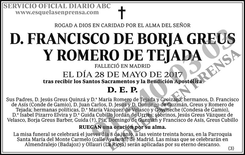 Francisco de Borja Greus y Romero de Tejada